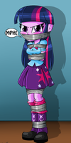 Twilight Sparkle Tied and Gagged -Commission by gaggeddude32