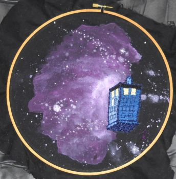 Tardis Embroidery by Ormspryde