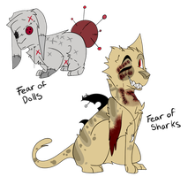 [ADOPTS - OPEN] Pin-Cushions and Sharks by SpiralinStars