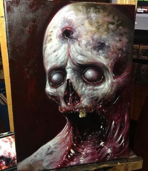 Glutton 9x12 oil on canvas  by zackdunn89