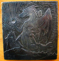 Mountain Dragon Engraving by JoeWere