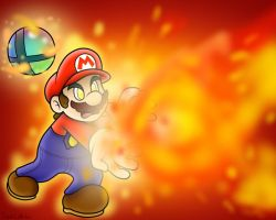 SSBB: Final Smash: Mario by SuperLakitu