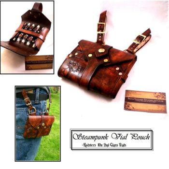 Leather Vial Pouch x10 by Skinz-N-Hydez