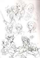 ffxiv scribbles by MuscleFace