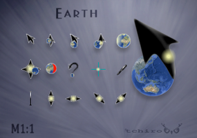 Earth-animated cursor by tchiro
