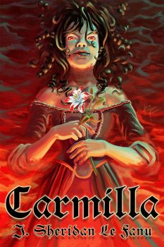 Carmilla - book by J. Sheridan Le Fanu - cover by thinknervous