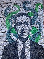 H.P. Lovecraft Mosaic by Koscielny