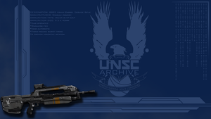 Halo 4 Battle Rifle - Wallpaper by GuruGrendo