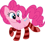 Pinkie Pie-is in striped socks [Commission] by KyssS90