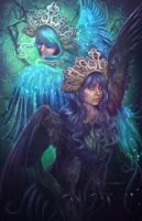 Sirin and Alkonost by Incantata