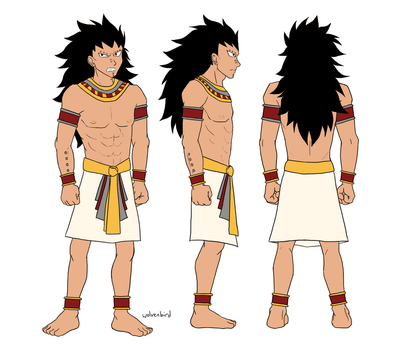 Gajeel Ancient Egyptian design by WolvenBird