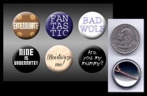 Doctor Who - Ninth doctor buttons by eitanya