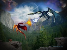 Dragons by Tyleen-Barker