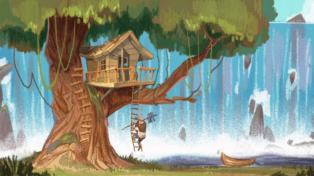 treehouse by mendigo-amigo