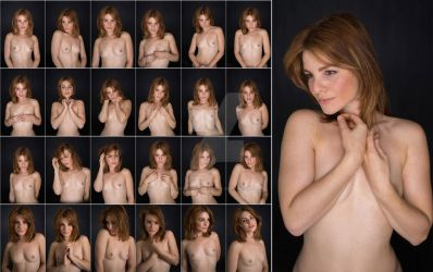 Stock: Nathalia Expressive Nude Portrait-25 Images by stockphotosource