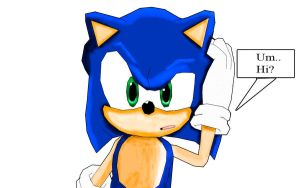 Sonic The Hedgehog Confused. by shadow759