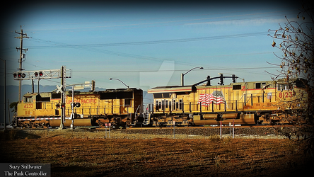 Union Pacific 4233 and 8123 by KitKat37