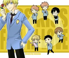 Ouran High School Host Club by neneno