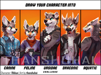 Character Species Challenge: Rikkun by thanshuhai