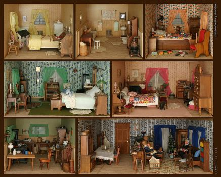 1902 Period Doll House by halley