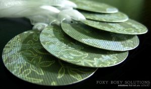 Gift Tags - Floral Branches by foxyboxysolutions