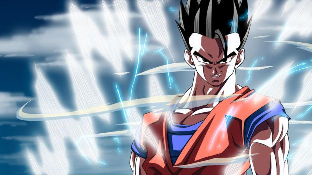 Mystic Gohan Powers Up: DBKai by moxie2D