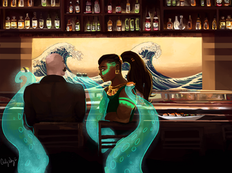 Braum and Illaoi Sushi Date by Guava-Pie