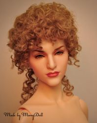 Faceup, wig, nose and eyes mod for Angelsdoll Gia by mary-vassilieva