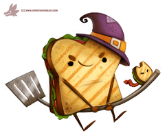 Daily Paint #1073. Sandwitch by Cryptid-Creations