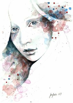 Unfinished Sympathy, watercolor and pencil study by jane-beata