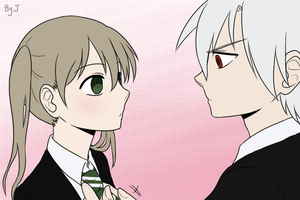 Soul and Maka by sincerelyj