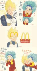 VegetaBul McDonalds romance and hairline recession by Armell