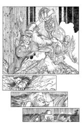 Ninja Bear page 3 pencils by JasonGodwin