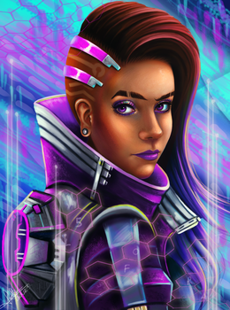 Sombra Overwatch by lara-cr