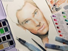 Benedict Cumberbatch WIP by Quelchii