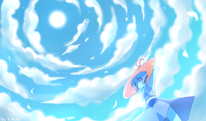 Clear Sky by the Sea (Cloud practice) by Aka-no-Sekai