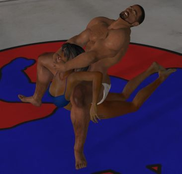 Mixed wrestling match 80 by cattle6