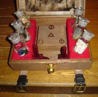 Lovecraftian Chest bottle view by nippyfrog