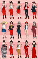 SF - Anna's Outfit Chart by Tiukuli
