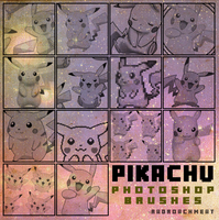 Pikachu Brush Set [2016] by radroachmeat