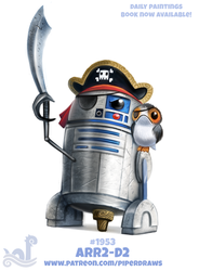 Daily Paint 1955# ARR2-D2 by Cryptid-Creations