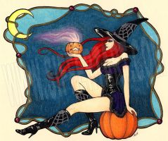 Red-haired Witch II by siffert