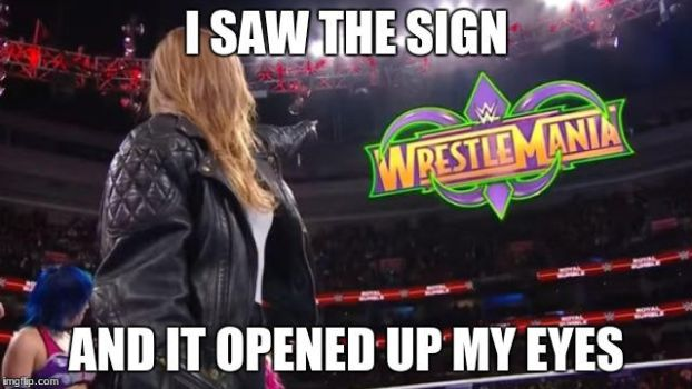 Ronda Rousey sees the sign by TheCharismaticDemon