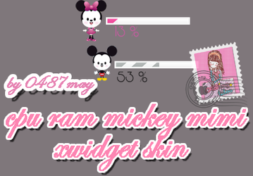 CPU, RAM, mickey, minnie mouse Xwidget by may0487