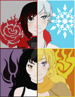 Team RWBY by shadowwolff