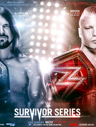 WWE Survivor series 2017 Poster by workoutf