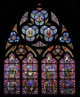 Cathedral of Bayeux - window (2) by UdoChristmann