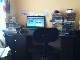 My workstation by Adam-Clowery