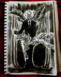 Monster October Slenderman (Hitoshi Iwaaki style) by NarcolepticCrow