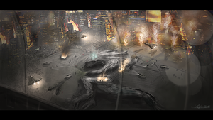 The defeat of the Beast from 20,000 Fathoms by FeroxX-Gosu